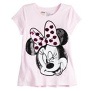 Disney's Minnie Mouse Girls 4-10 Shirred Sequined Graphic Tee by Jumping Beans®