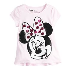 Disney's Minnie Mouse Toddler Girl Ruffle Back Sequin Tee by Jumping Beans®