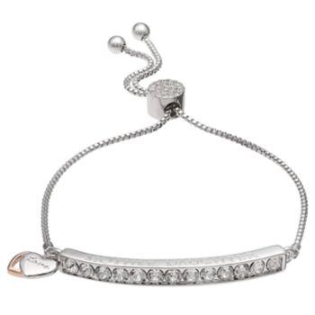 """Brilliance """"Mother Daughter"""" Adjustable Bracelet with Swarovski Crystals"""