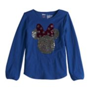 "Disney's Minnie Mouse Girls 4-10 ""Hi"" Flip-Sequin Long-Sleeve Graphic Tee by Jumping Beans®"