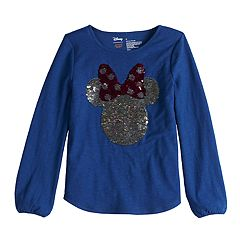 Disney's Minnie Mouse Girls 4-10 'Hi' Flip-Sequin Long-Sleeve Graphic Tee by Jumping Beans®