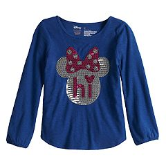 Disney's Minnie Mouse Toddler Girl 'Hi' Sequin Long Sleeve Tee by Jumping Beans®