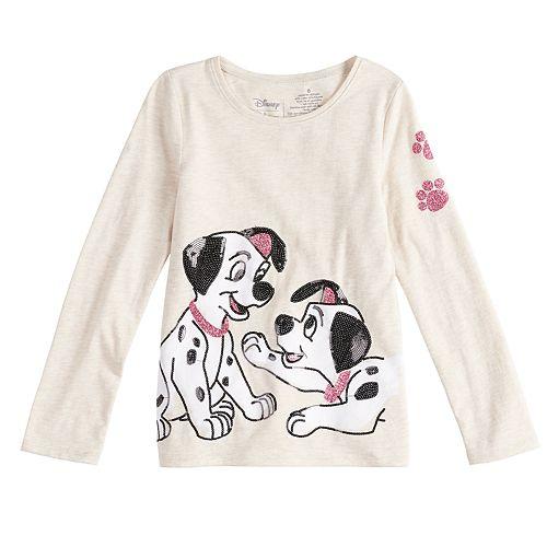 7de052a1 Disney's 101 Dalmatians Girls 4-10 Long-Sleeve Sequined Graphic ...