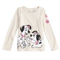 Disney's 101 Dalmatians Toddler Girl Long-Sleeve Sequined Graphic Tee by Jumping Beans®
