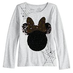 Disney's Minnie Mouse Girls 4-10 'Boo' Flip-Sequin Long-Sleeve Graphic Tee by Jumping Beans®