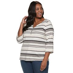 Plus Size Croft & Barrow® Henley