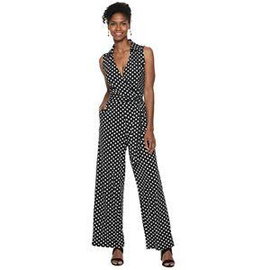 a4fbe1671188 Women s Chaps Embellished Overlay Wide-Leg Jumpsuit. Sale.  38.99. Regular.   57.00. Women s Nina Leonard Print ...