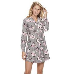 Women's Gloria Vanderbilt Notch Collar Sleepshirt