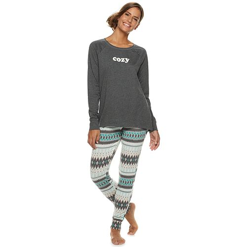 5a9746be41 Women s SONOMA Goods for Life™ Graphic Tee   Jogger Pajama Set