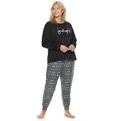 Plus Size SONOMA Goods for Life™ Graphic Tee & Jogger Pajama Set