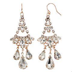 Simulated Crystal Nickel Free Chandelier Earrings