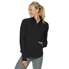 Women's Tek Gear® Performance Thumb Hole 1/4-Zip Jacket