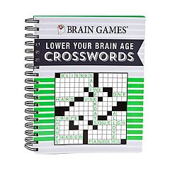 Lower Your Brain Age Crosswords Book by Publications International, Ltd.