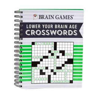 Lower Your Brain Age Crosswords Book by Publications International, Ltd.