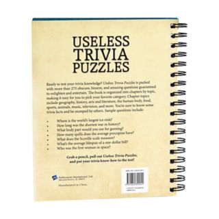 Useless Trivia Puzzles Book by Publications International, Ltd.