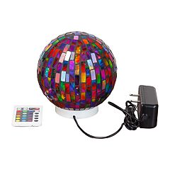 Casual Home Mosaic Color-Changing Globe LED Lamp