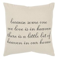Rizzy Home ''Heaven'' Throw Pillow