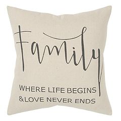 Rizzy Home ''Family'' Throw Pillow
