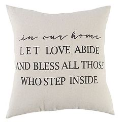 Rizzy Home ''In Our Home'' Throw Pillow