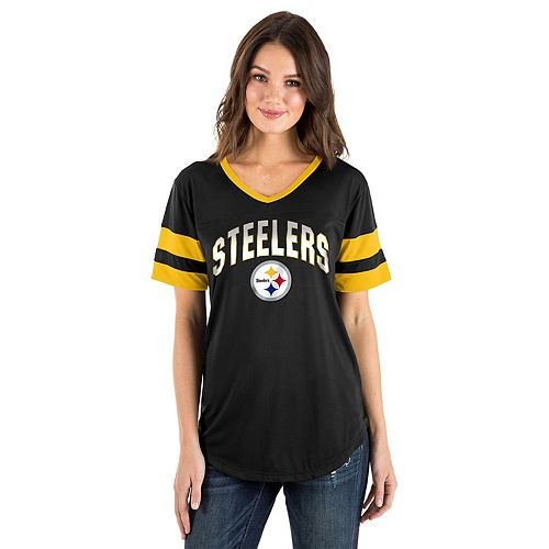 competitive price 6ff9f 7538a Women's New Era Pittsburgh Steelers Jersey Tee