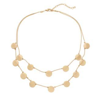 Round Disc Multi Strand Necklace