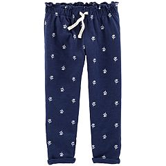 Toddler Girl Carter's Slubbed Floral Print Jogger