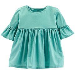 Toddler Girl Carter's Bell Sleeve Shirred Top