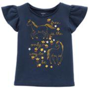 Toddler Girl Carter's Flutter Sleeve Graphic Tee