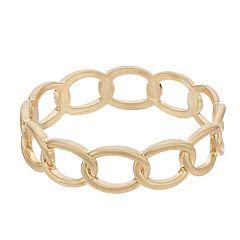 Textured Link Cuff Bracelet