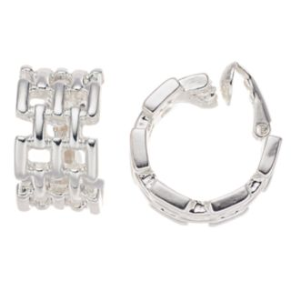 Napier Geometric Hoop Clip-On Earrings