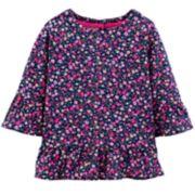 Toddler Girl Carter's Floral Peplum Tee