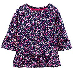 Toddler Girl Carter's Floral Peplum Tee