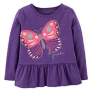 Toddler Girl Carter's Ruffled Hem Top