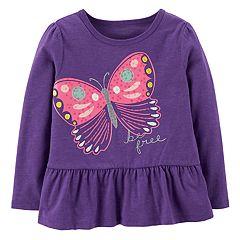 Toddler Girl Carter's Ruffled Hem Top
