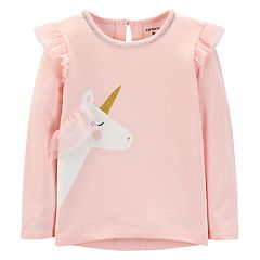 Toddler Girl Carter's Glitter Flutter Sleeve Top
