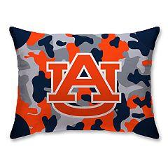 Auburn Tigers Camo Throw Pillow