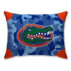 Florida Gators Camo Throw Pillow