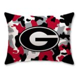 Georgia Bulldogs Camo Throw Pillow