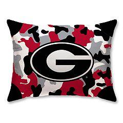 Georgia Bulldogs Camo Throw Pillow