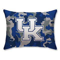 Kentucky Wildcats Camo Throw Pillow
