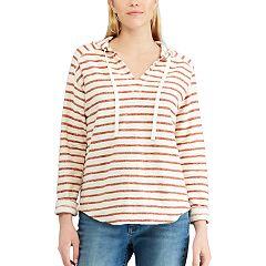 Women's Chaps Striped Hooded Tee