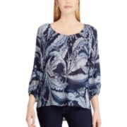 Women's Chaps Palm Leaf Peasant Top
