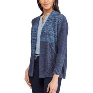 Women's Chaps Patchwork Space-Dye Cardigan Sweater