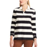 Women's Chaps Striped Rugby Shirt