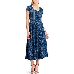 Women's Chaps Print Midi Dress