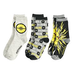 Boys 4-20 Pokemon 3-Pack Crew Socks