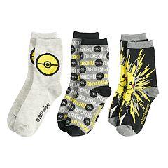 Boys 4-20 Pokemon 3-Pack Crew Socks
