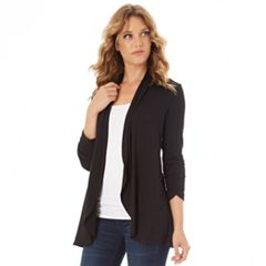 98596713ed3 Women s Apt. 9® Ruched Sleeve Open-Front Cardigan