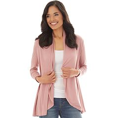 e2523514f3a53c Women s Apt. 9® Ruched Sleeve Open-Front Cardigan