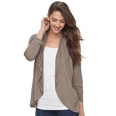 Women's Apt. 9® Ruched Sleeve Open-Front Cardigan